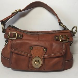 Coach 65th Anniversary Legacy Whiskey Shoulder Bag